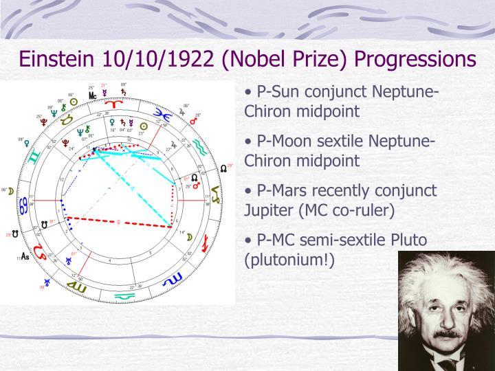 Einstein 10/10/1922 (Nobel Prize) Progressions