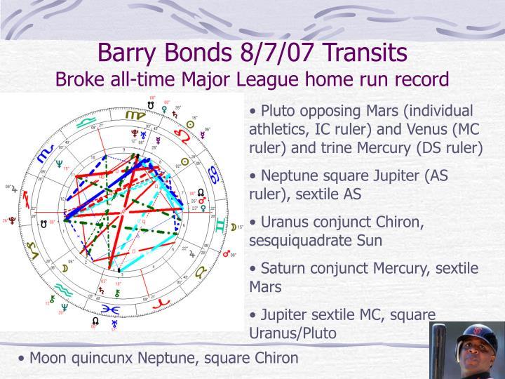 Barry Bonds 8/7/07 Transits