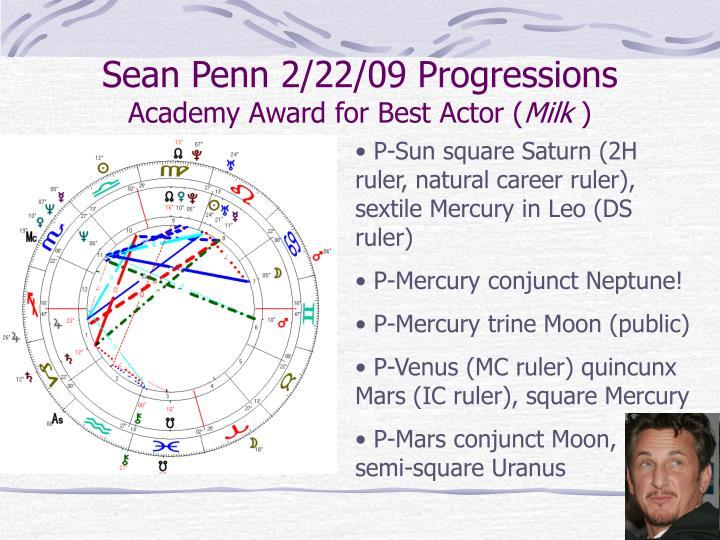 Sean Penn 2/22/09 Progressions