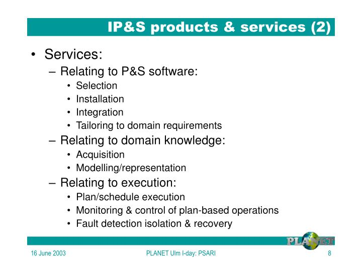 IP&S products & services (2)