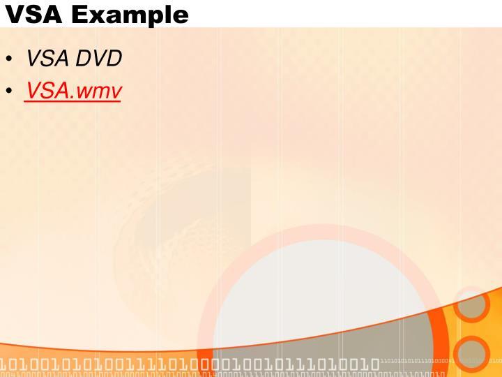VSA Example
