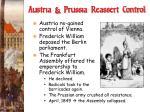 austria prussia reassert control