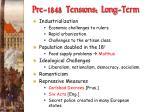 pre 1848 tensions long term