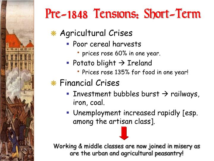 Pre-1848 Tensions: Short-Term