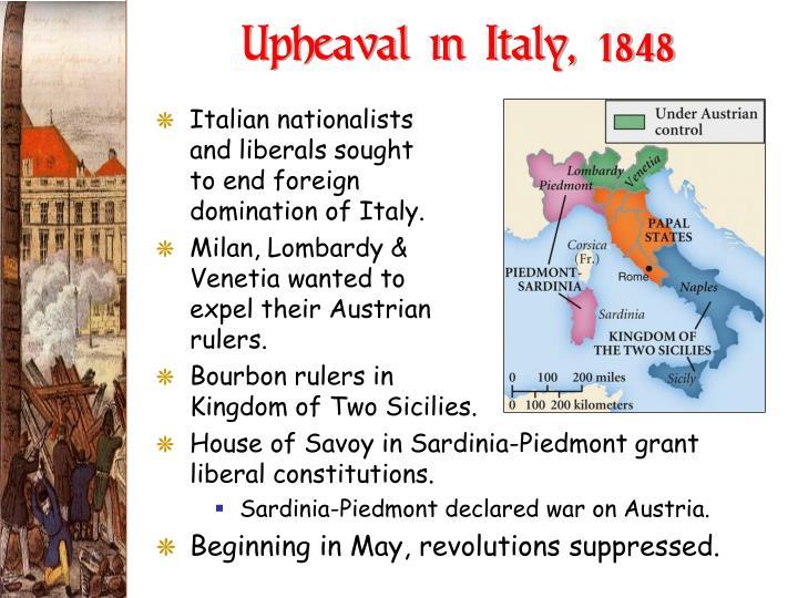 Upheaval in Italy, 1848