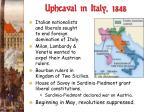 upheaval in italy 1848