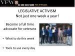 legislative activism not just one week a year