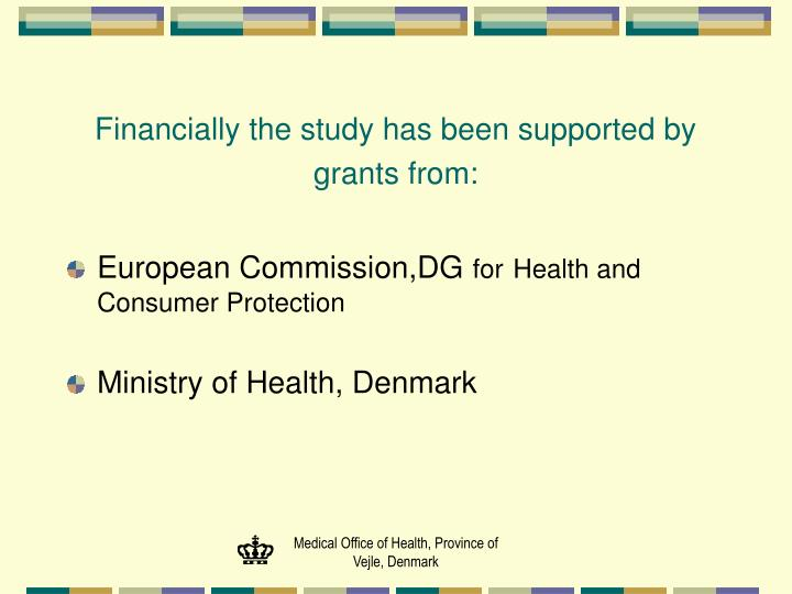 Financially the study has been supported by