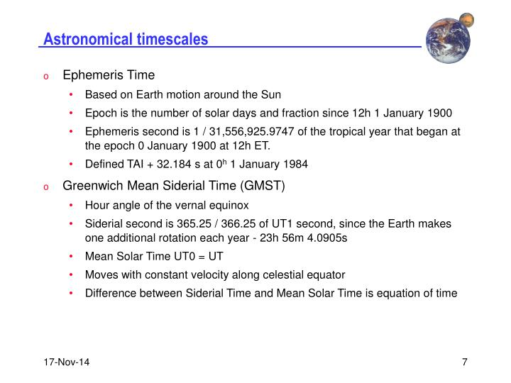 Astronomical timescales