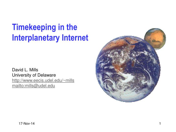 Timekeeping in the interplanetary internet
