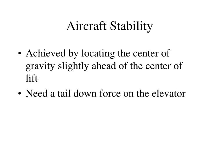 Aircraft Stability