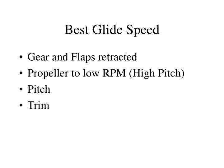Best Glide Speed
