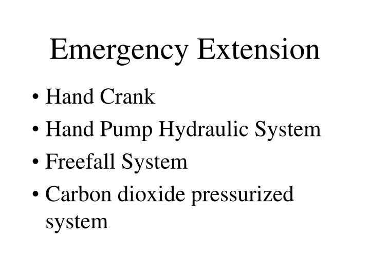 Emergency Extension