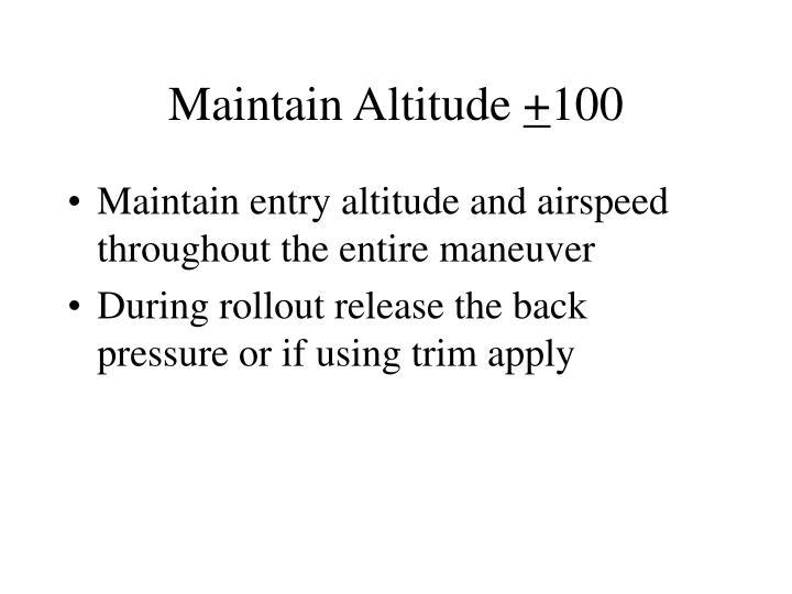 Maintain Altitude