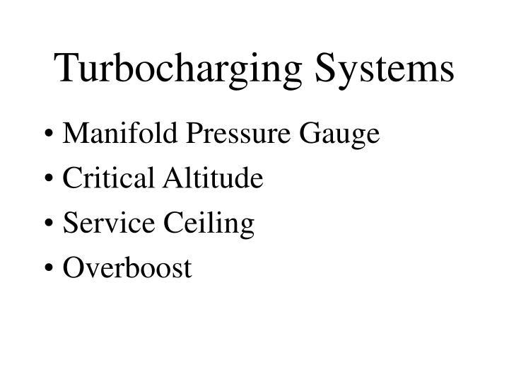 Turbocharging Systems