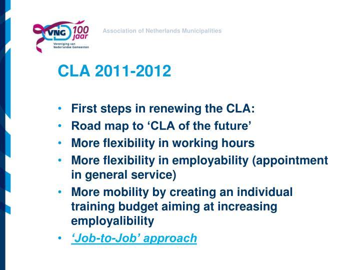 CLA 2011-2012