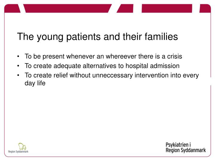 The young patients and their families