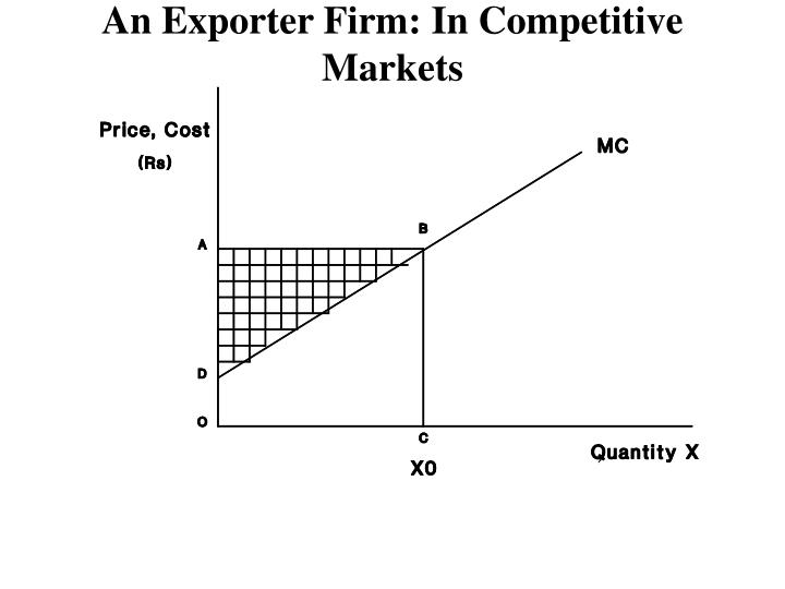 An Exporter Firm: In Competitive Markets