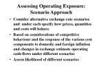 assessing operating exposure scenario approach
