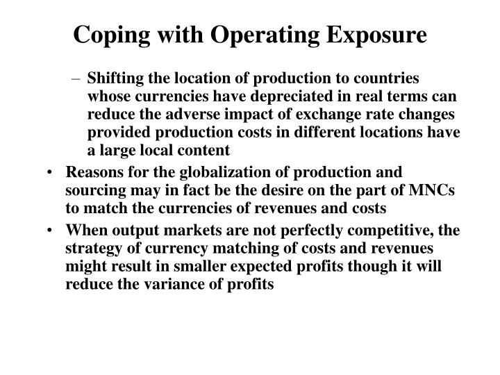Coping with Operating Exposure