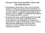 currency of invoicing quantity criteria and operating exposure1