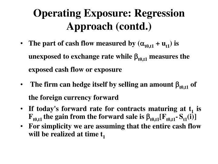 Operating Exposure: Regression Approach (contd.)