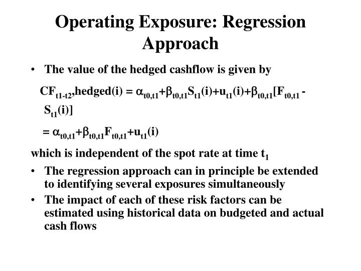 Operating Exposure: Regression Approach