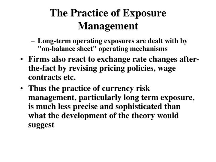 The Practice of Exposure Management