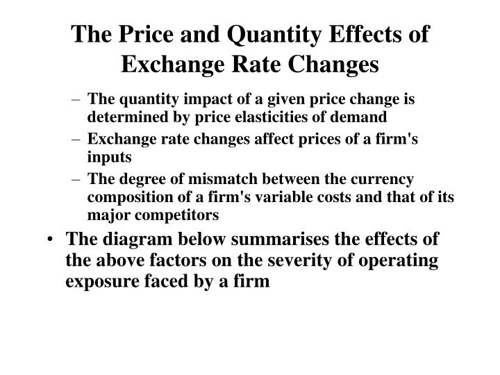 The Price and Quantity Effects of Exchange Rate Changes