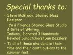 special thanks to1
