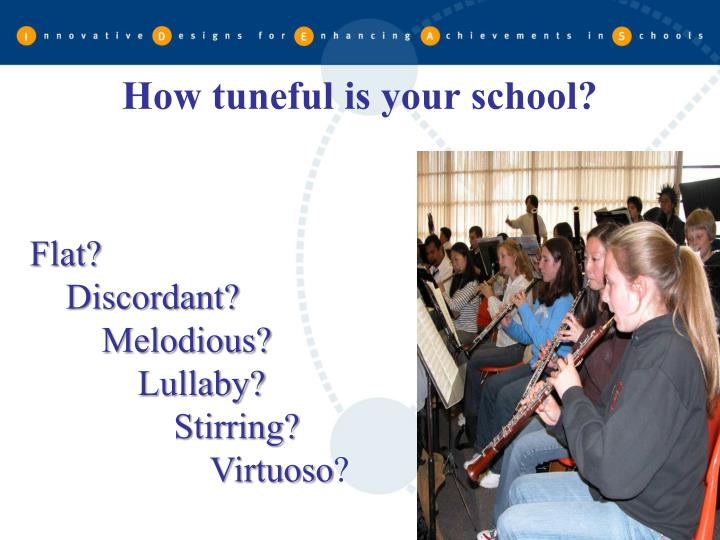 How tuneful is your school?