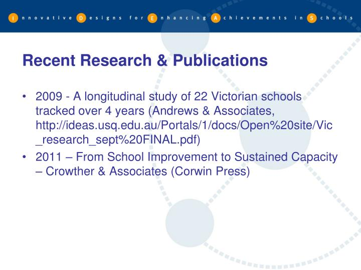 Recent Research & Publications