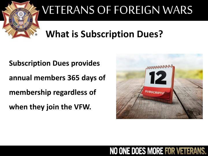 What is Subscription Dues?