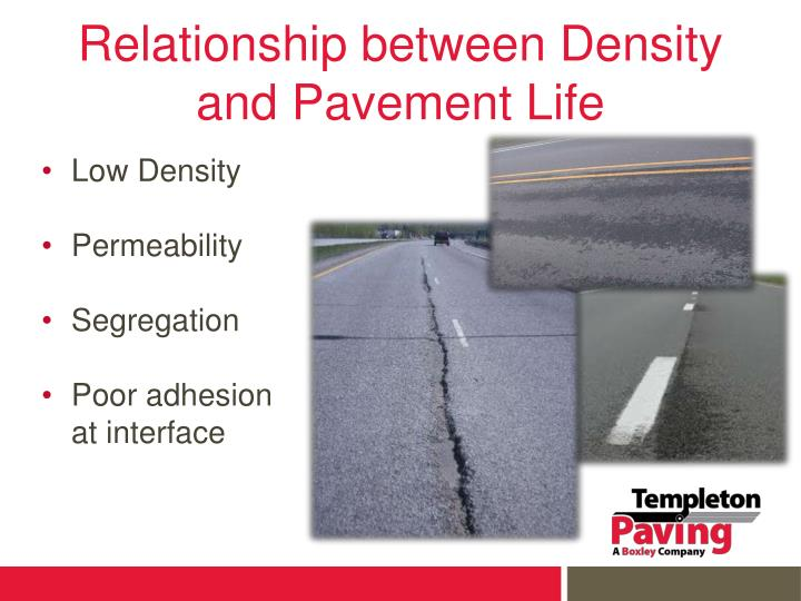 Relationship between Density and Pavement Life