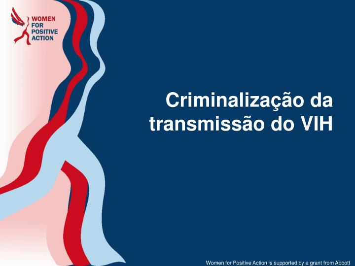 Criminalização da transmissão do VIH