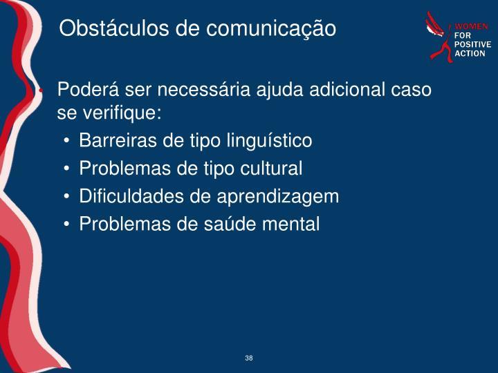 Obstáculos de comunicação