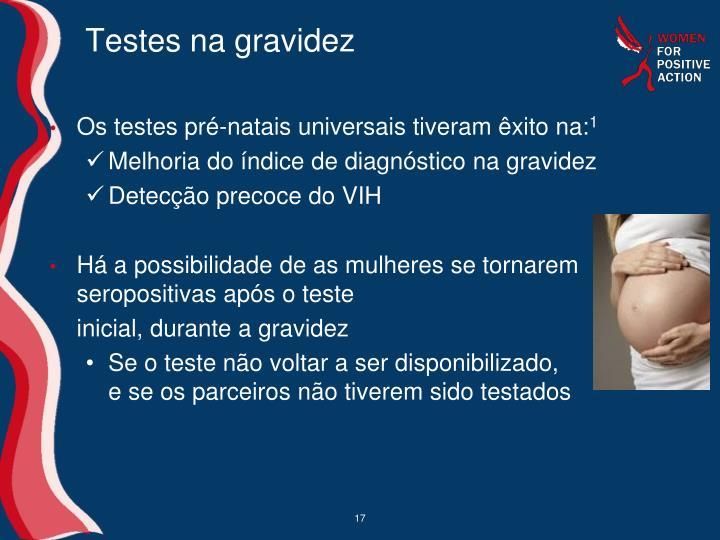 Testes na gravidez
