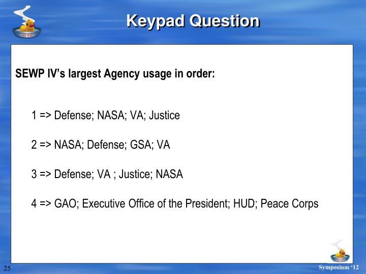 Keypad Question
