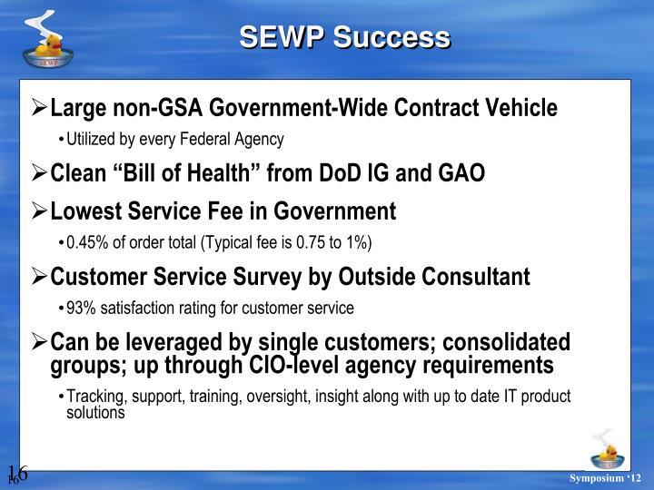SEWP Success