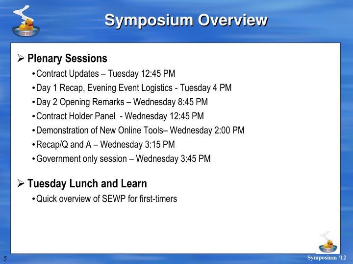 Symposium Overview