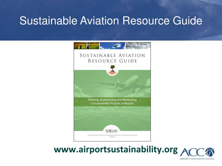Sustainable Aviation Resource Guide