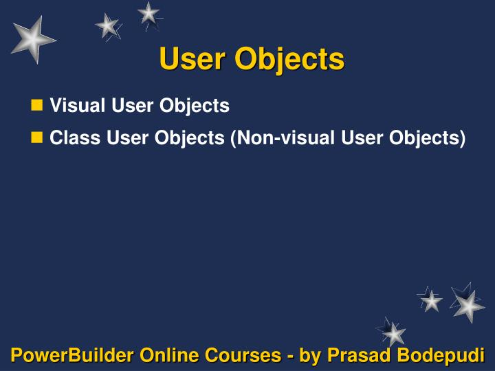 user objects