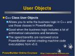 user objects10