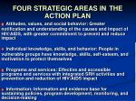 four strategic areas in the action plan