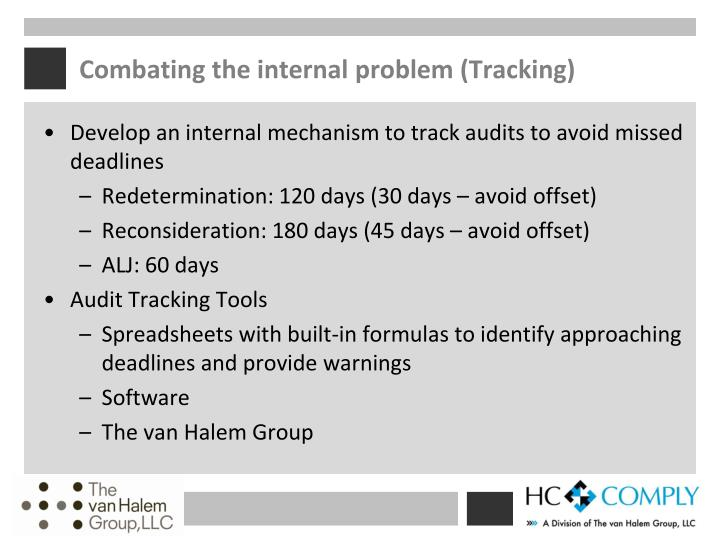 Combating the internal problem (Tracking)