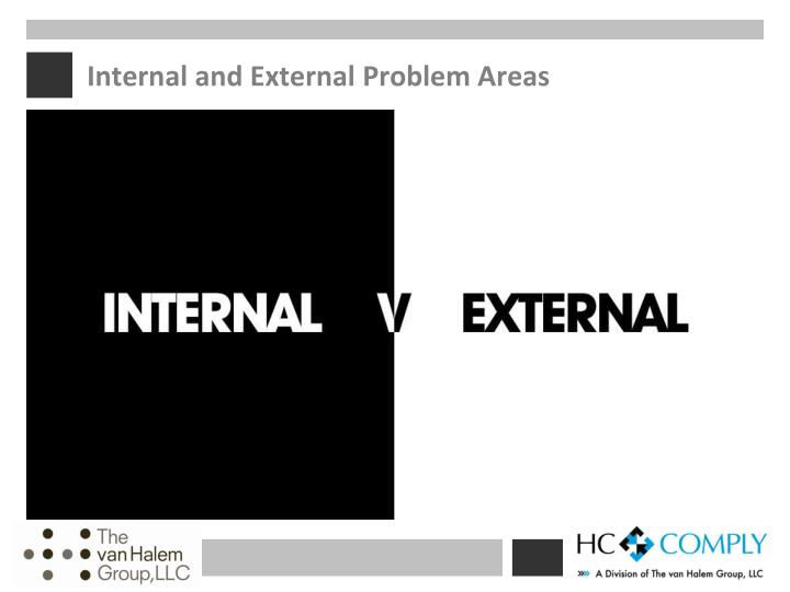 Internal and external problem areas