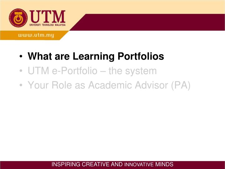 What are Learning Portfolios