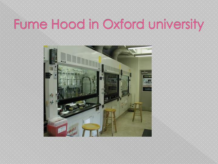 Fume Hood in Oxford university