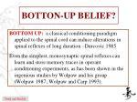 botton up belief
