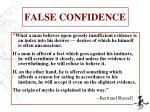 false confidence